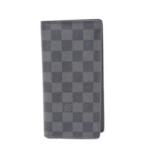 Auth Louis Vuitton Graphite Long Wallet Like New
